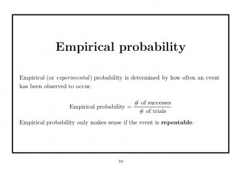 What Is Empirical Probability